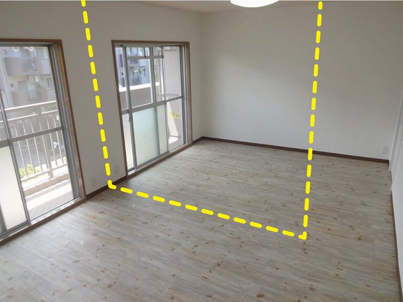 12帖の洋室は家具で仕切って子供部屋にも、リフォームで個室にも改造可能です。