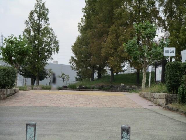 近くに白鷺公園があります 池やグラウンドがあり、ウォーキングやスポーツを楽しめます