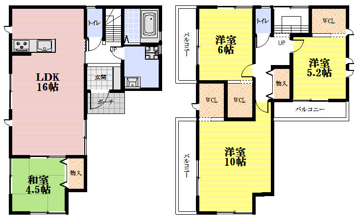 平成29年7月完成予定。全6区画の分譲地、南向きバルコニーのお家。お車も2台駐車可能です。