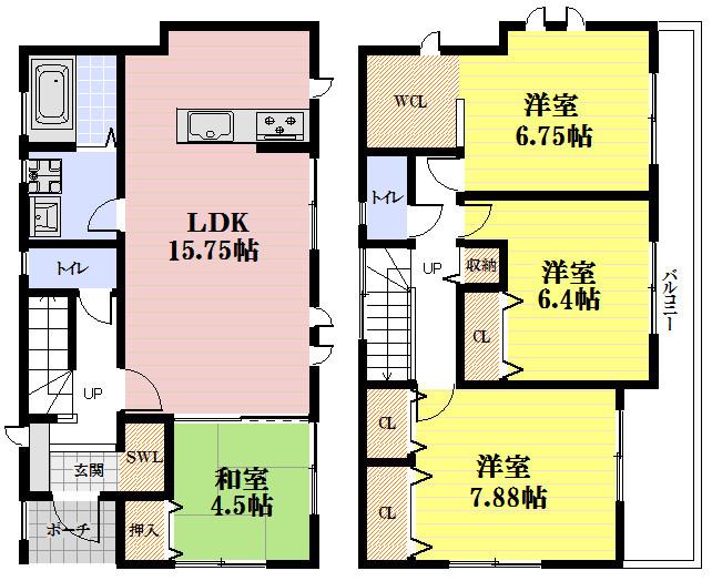 平成29年7月完成予定。全6区画の分譲地、南向きバルコニー角地のお家。お車も2台駐車可能です。