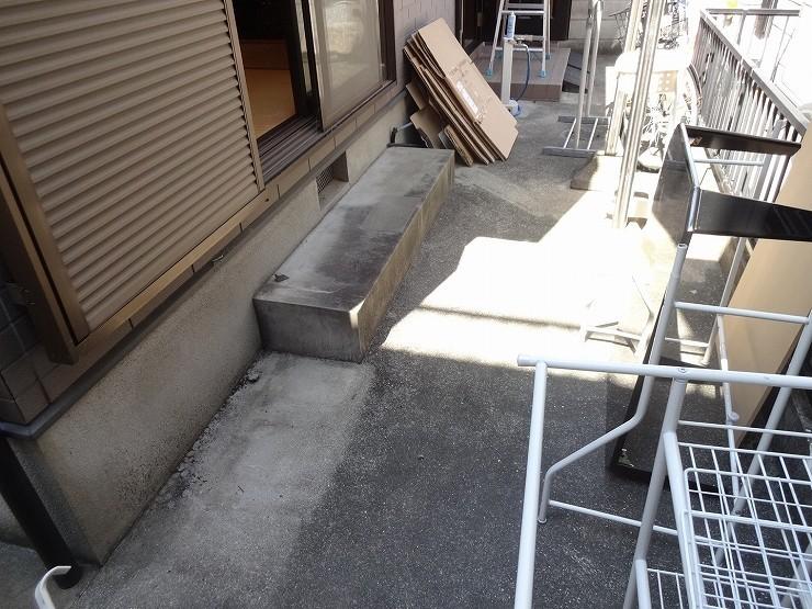 和室の前のテラス 自転車も置けます
