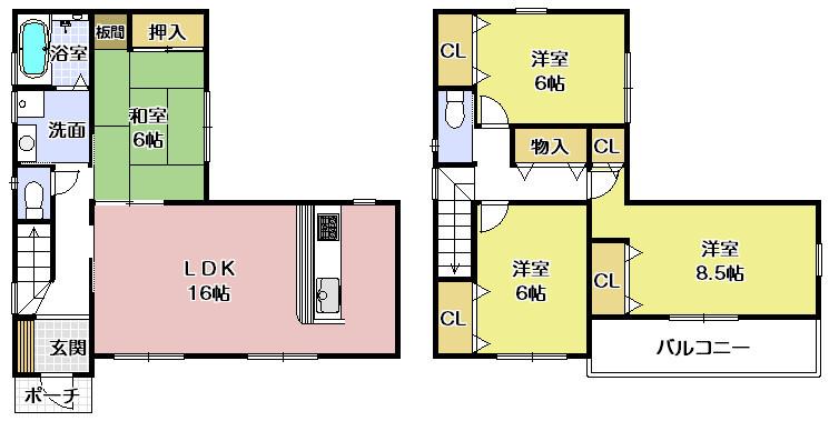 湊駅徒歩10分。2台駐車可能。イケチュー少林寺店徒歩3分で買い物便利。
