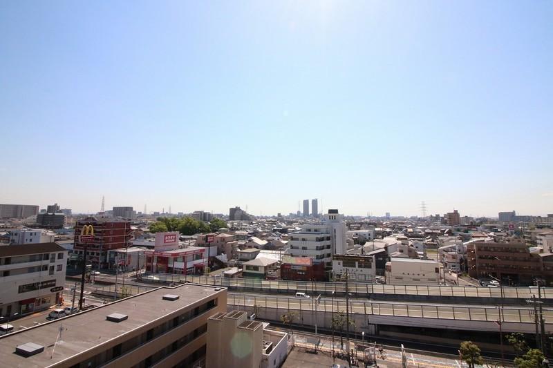 バルコニーからの眺め。