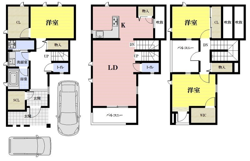 新築プラン建物価格 1,600万円※外構・建築諸費用は別途