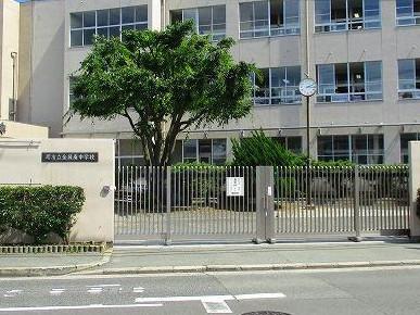 金岡南中学校:1346m