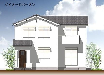 プランA外観イメージパース:建物参考価格2200万円・諸費用別
