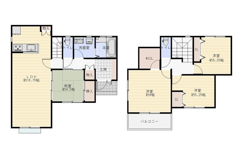 4LDKの広々としたお家です。