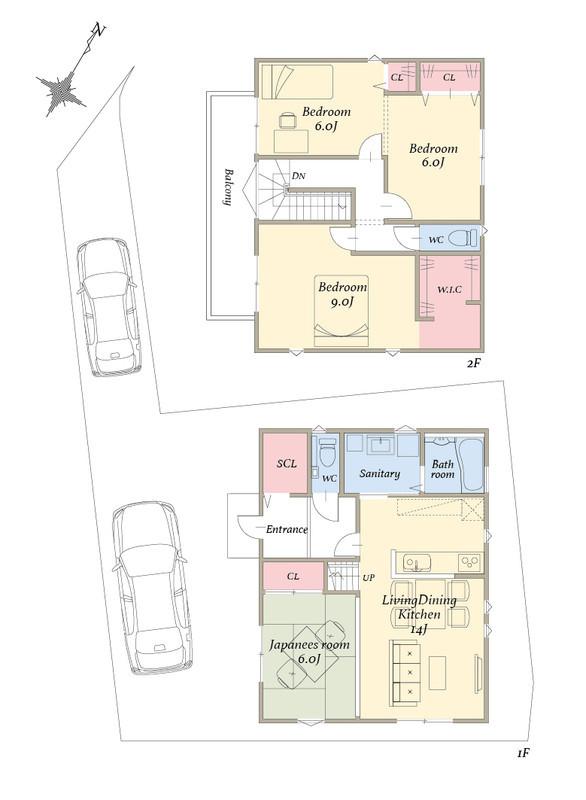2台駐車可能な4LDKのお家