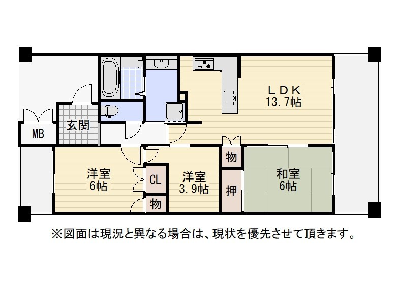 平成15年築 15階建6階部分