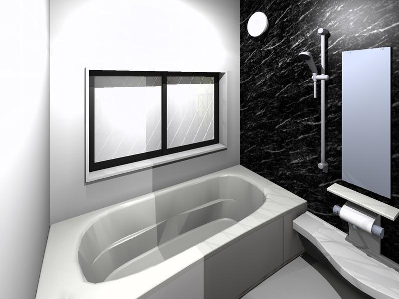 【浴室】イメージパース■お子様と一緒にバスタイムを楽しめる広々浴室■浴室に窓があるので換気を常にできます!