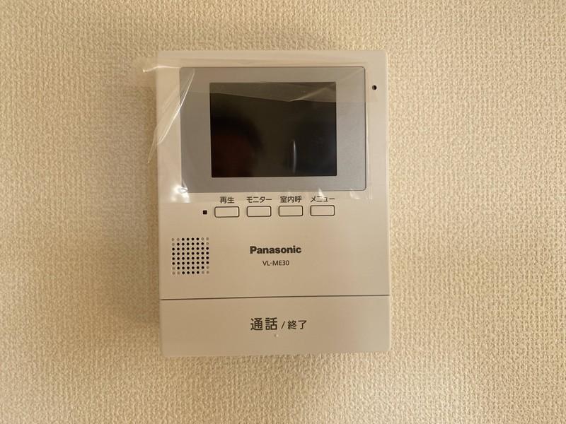 防犯性能に優れたTVモニター付インターホン付き!