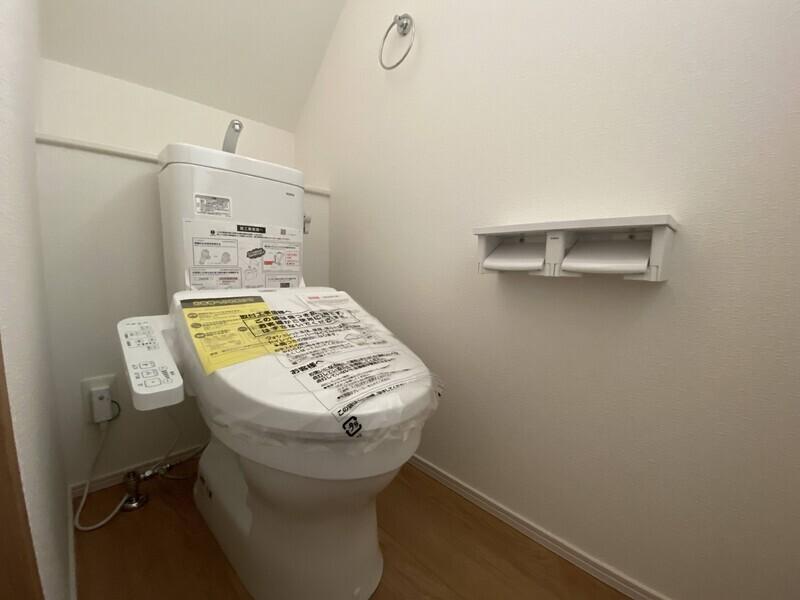 【トイレ】温水洗浄便座機能付きのトイレでスッキリ♪