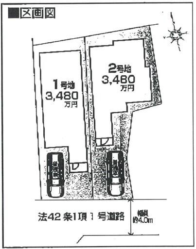 【区画図】◎全2区画分譲 ◎JR阪和線「鳳」駅まで徒歩10分