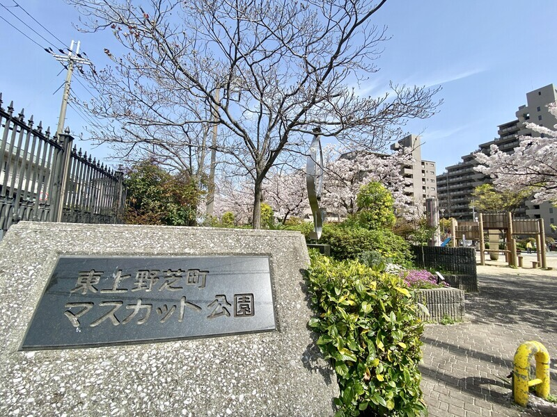 【公園】歩いてすぐの場所に東上野芝町マスカット公園があります♪
