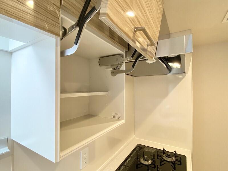 【キッチン/設備】上開き吊戸棚