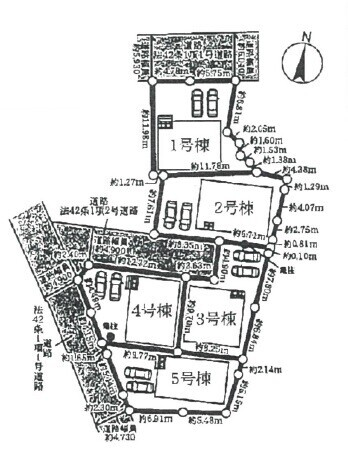【区画図】◎全5区画の分譲地
